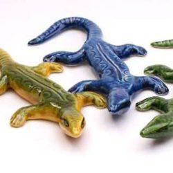 Ceramic Lizard, (lezard ceramique)