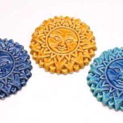 3 Ceramic suns (3 soleile
