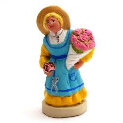 Santon Figure 8/9 cm: Flower Seller (fleuriste)