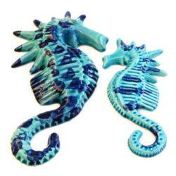 Seahorse, Ceramic (hippocampe ceramique)