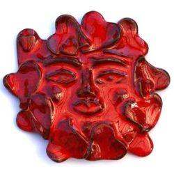 Red Heart Mask ceramique (masque rouge)