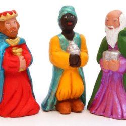 Santon Figure 8/9 cm: The 3 Kings (Rois Mages)