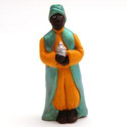 Santon 7 cm: roi noir