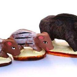 Santon Animal: Group 3 Wild Boars (sanglier + 2 marcassins)