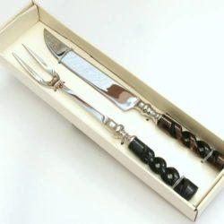 Meat Carving Set, horn handle (Service à Viande)