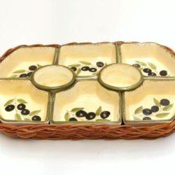 Aperitif Dish Set, Ceramic