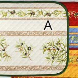 Set de Table motif olives