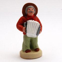 Le musicien Accordéoniste santon de Noel, Santon Provence