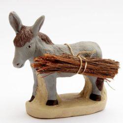 Santon de Provence 8/9 cm : âne fagots