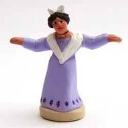 Santon de Noel 8/9 cm : Femme  farandole centre