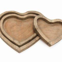 Trays – Heart x 3 (3 Plateaux Coeurs)