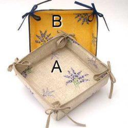 Lavender Cloth Basket (corbeille) Style: Lavande