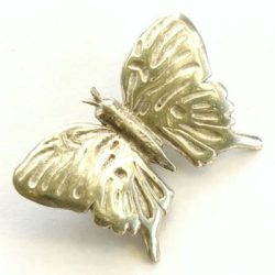 Pewter butterfly brooch