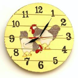Wallclock Chicken - Pendule « Poules »
