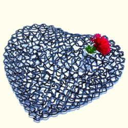 Wire Heart with Vase for small flower (Coeur Métal)