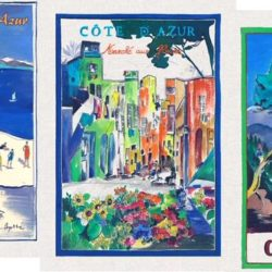 Tea Towels Côte d'Azur pack of 3 (Torchons Côte d'Azur, lot de 3)