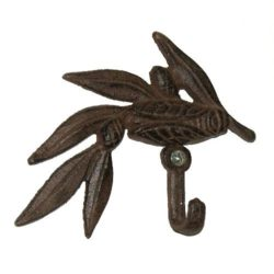 Cast Iron Wall Hook Cicada/Twig (Crochet Cigale sur branche en fonte)