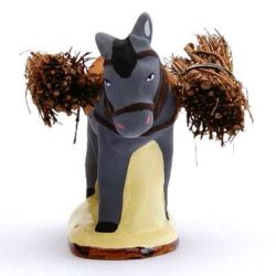 Santon Animal 7 cm: Moule with Firewood (fagot âne)