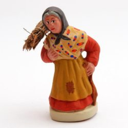 Santon Figure 8/9 cm: Woman with Bundle of Firewood (femme au fagot)