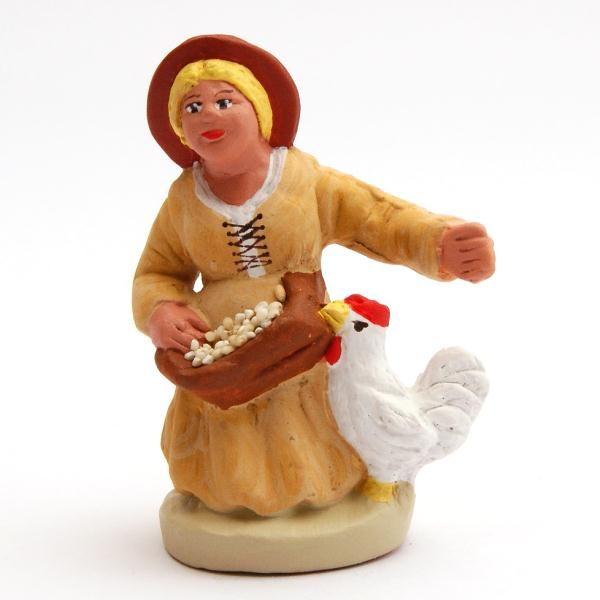 Santon Figure 8/9 cm: Woman with grain (femme aux grains)