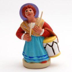 Santon de Provence 8/9 cm: Musicienne femme Provencal tambourinaire