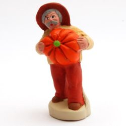 Santon Figure 8/9 cm: Man with Pumpkin (homme potiron)