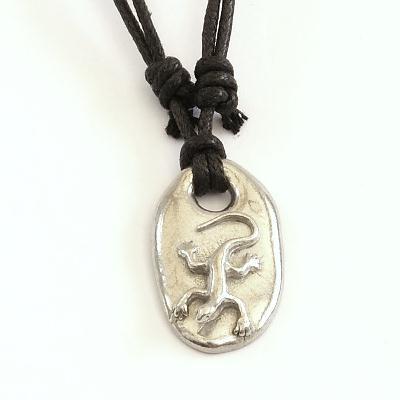 Pewter Lizard pendant