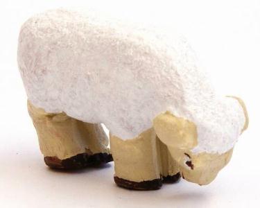 Santon Animal: Sheep grazing (mouton broutant)