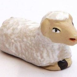 Santon Animal: Sheep sitting (mouton couché)