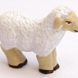 Santon Animal: Sheep standing (mouton debout)