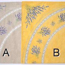 Lavender Roundl Tablecloth (Nappe rondel, lavande)