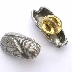 Pin Cicada pewter
