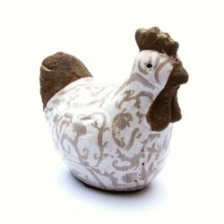Chicken Ceramic (Poule Grise bi, ceramique)