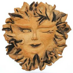 Sun, earthenware, Ceramic