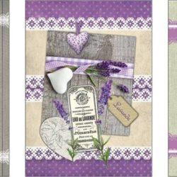 Tea Towels Lavender  (Torchon Lavande)