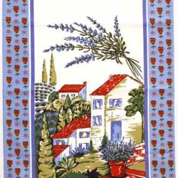 Kitchen Towel, Motive: Lavender (Torchon Lavande)
