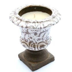 Vase with Candle Ceramic (Vase Bougie bi)