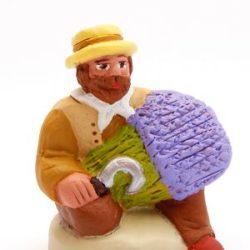 Santon Figure 8/9cm Man with Lavender (Homme avec Lavande)