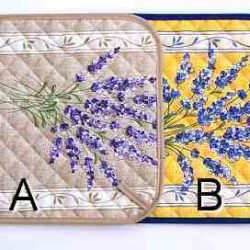 "Topflappen ""Lavendel"", Lavender Pot Holder/Oven Cloth (manique lavande)"