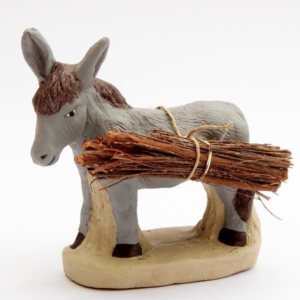 Santon 8/9 cm : Moule with Firewood (âne fagot)