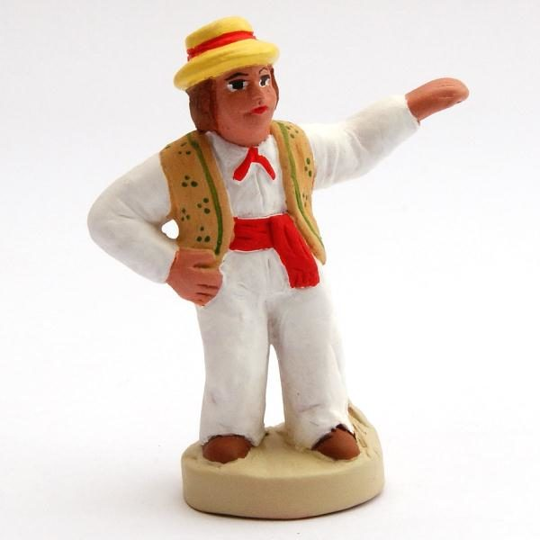 Santon 8/9 cm : The Dancer with hat (homme farandole chapeau)