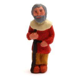 Santon 8/9 cm : Old Man, Provence (vieil homme Provence)