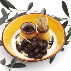 Serving Disch with olives